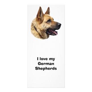 Retrato Alsatian del perro de pastor alemán Tarjeta Publicitaria A Todo Color
