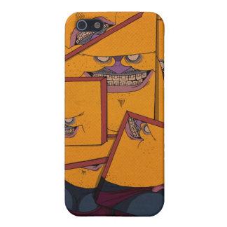 Retrato amarillo iPhone 5 carcasas