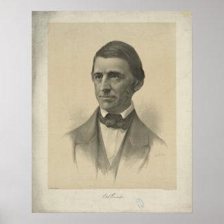 Retrato americano de Ralph Waldo Emerson del ensay Póster