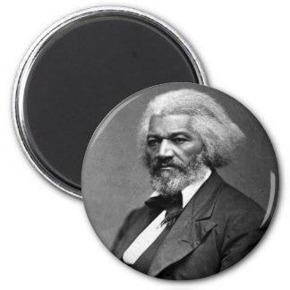 Retrato antiguo de Frederick Douglass Imán Redondo 5 Cm
