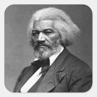 Retrato antiguo de Frederick Douglass Pegatina Cuadrada