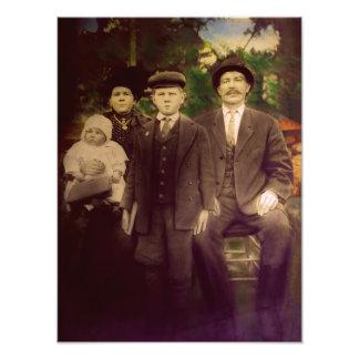 Retrato antiguo de la familia impresiones fotograficas