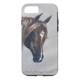 retrato árabe del caballo de la castaña del caso funda iPhone 7
