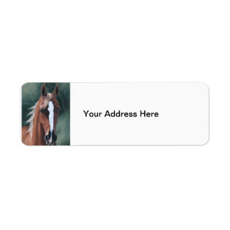 Retrato árabe del caballo etiquetas de remite