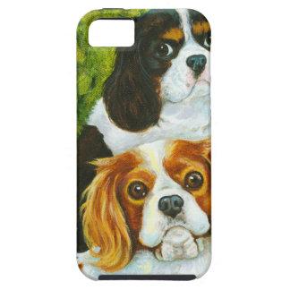 Retrato arrogante de los perros de aguas de rey Ch iPhone 5 Case-Mate Cárcasa
