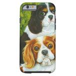 Retrato arrogante de los perros de aguas de rey funda de iPhone 6 tough