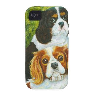 Retrato arrogante de los perros de aguas de rey vibe iPhone 4 fundas