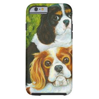 Retrato arrogante de los perros de aguas de rey funda para iPhone 6 tough