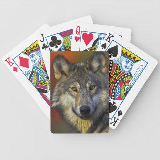 Retrato artístico hermoso del lobo gris