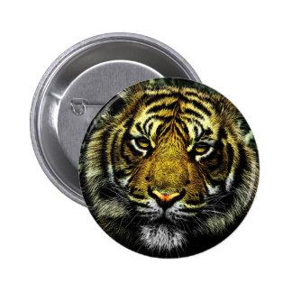 Retrato artístico hermoso del tigre pin