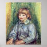 Retrato asentado de Claude Renoir 1905-08 Posters