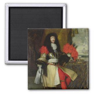 Retrato asentado de Louis XIV después de 1670 Iman Para Frigorífico