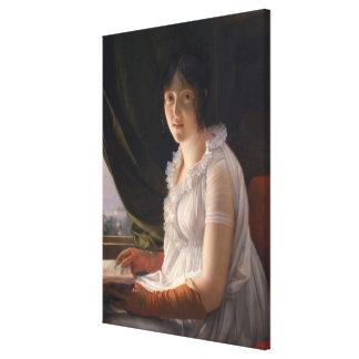 Retrato asentado de Marie-Felipe-Claude Impresion En Lona