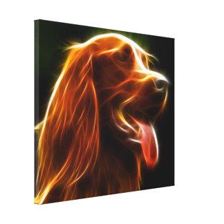 Retrato asombroso del perro impresiones en lona
