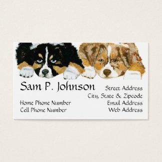 Retrato australiano de los perritos del ~ del tarjetas de visita