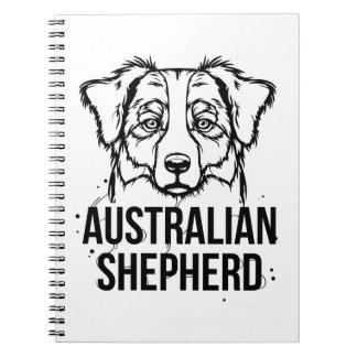 Retrato australiano del pastor libros de apuntes