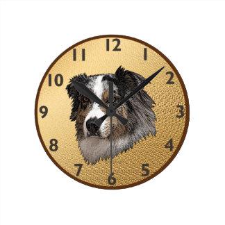 Retrato australiano del pastor reloj redondo mediano