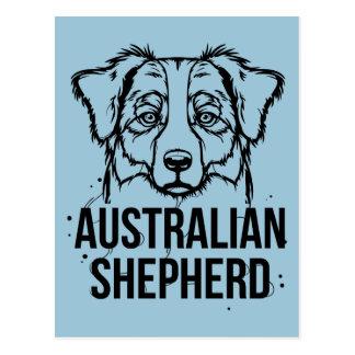 Retrato australiano del pastor tarjetas postales