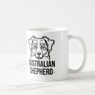Retrato australiano del pastor taza de café