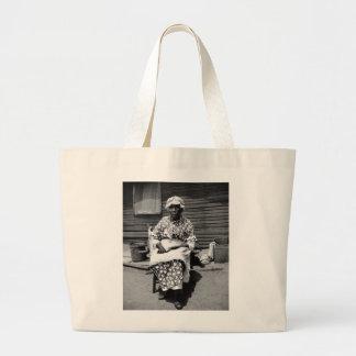 Retrato auxiliar anterior, los años 30 bolsa tela grande