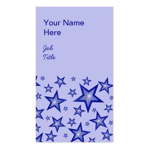 Retrato azul claro azul marino de la tarjeta de vi
