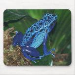 Retrato azul de la rana de la flecha del veneno tapete de ratón