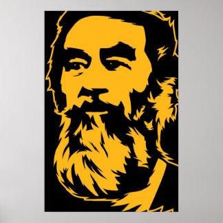 Retrato barbudo de Saddam Hussein Posters