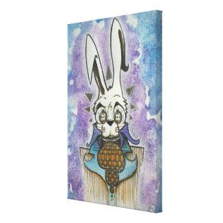 Retrato blanco del conejo lona estirada galerías
