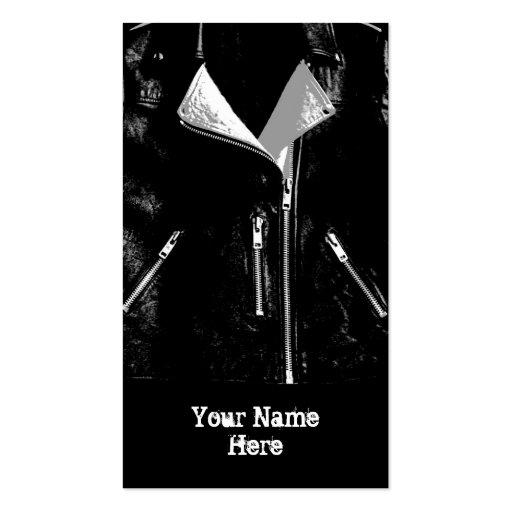 Retrato blanco del negro de la tarjeta de visita d