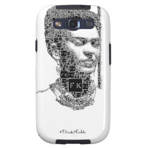 Retrato blanco y negro de Frida Kahlo Carcasa Para Samsung Galaxy SIII