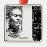 Retrato blanco y negro de Frida Kahlo Ornamentos De Navidad
