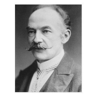 Retrato blanco y negro de Thomas Hardy Postales