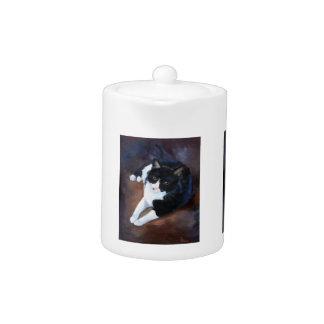 Retrato blanco y negro del gato