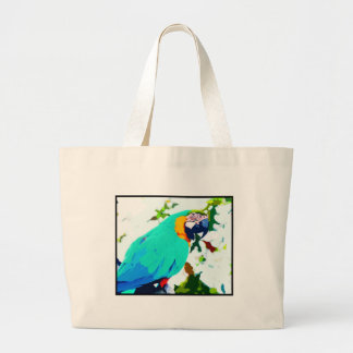 Retrato brillante del loro del Macaw Bolsa Tela Grande
