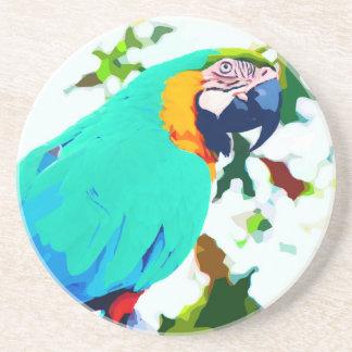 Retrato brillante del loro del Macaw Posavasos De Arenisca