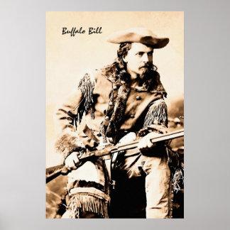 Retrato Buffalo Bill Cody Póster