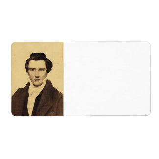 Retrato C.W. Carson 1879 del Jr. de Morman Joseph Etiqueta De Envío