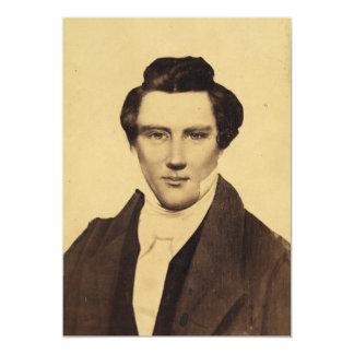 """Retrato C.W. Carson 1879 del Jr. de Morman Joseph Invitación 5"""" X 7"""""""
