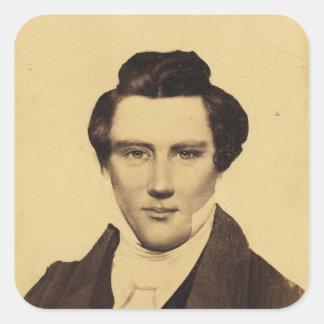 Retrato C.W. Carson 1879 del Jr. de Morman Joseph Pegatina