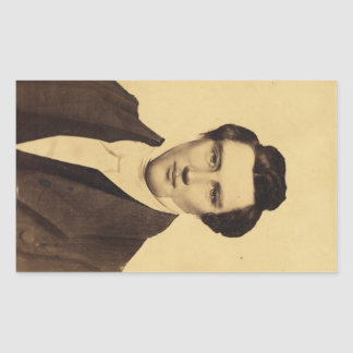Retrato C.W. Carson 1879 del Jr. de Morman Joseph Pegatina Rectangular
