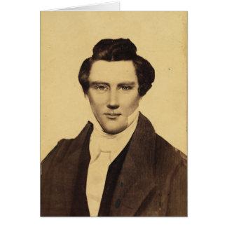 Retrato C.W. Carson 1879 del Jr. de Morman Joseph Tarjeta De Felicitación