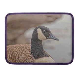 Retrato canadiense del ganso fundas para macbook pro