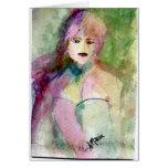 Retrato caprichoso de Lady Di Felicitacion