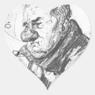 Retrato-caricatura de Giacomo Quarenghi por Orest Pegatina En Forma De Corazón