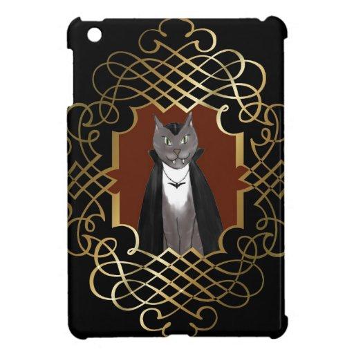 Retrato caso del iPad del gato del gatito del vamp iPad Mini Funda