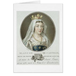 Retrato de 1185-1252) engrav de Blanche de Castill Tarjeta De Felicitación