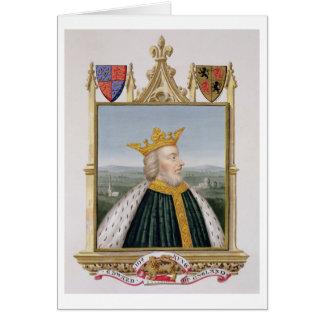 Retrato de 1312-77) reyes de Edward III (de Inglat Tarjeta De Felicitación