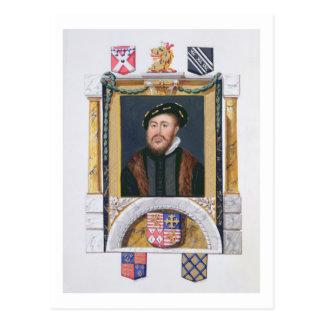 Retrato de 1488-1545) duques de Charles Brandon Postal