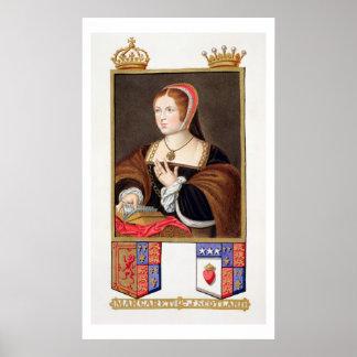 Retrato de 1489-1541) reinas de Margaret Tudor (de Póster
