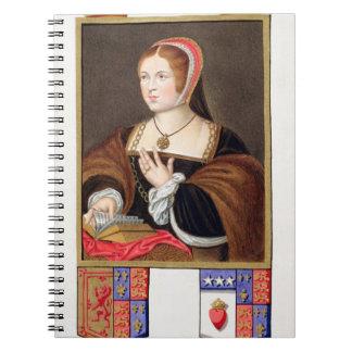 Retrato de 1489-1541) reinas de Margaret Tudor (de Spiral Notebooks